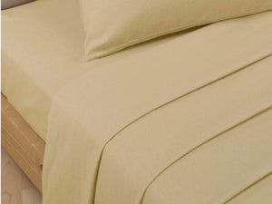 Percale Luxury Fitted Sheet Biscuit