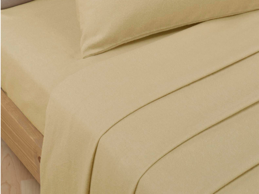 Percale Luxury Flat Sheet Biscuit
