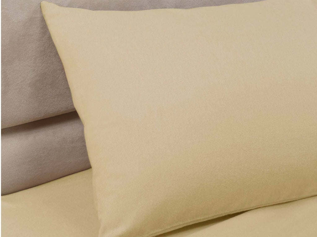 Percale Luxury Pillow Cases Biscuit