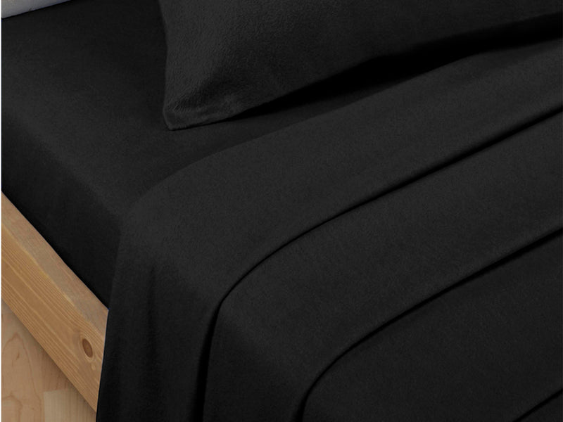 Percale Luxury Flat Sheet Black