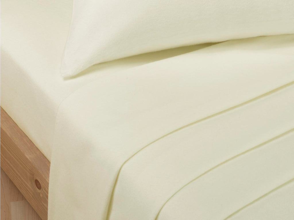 Percale Luxury Flat Sheet Ivory