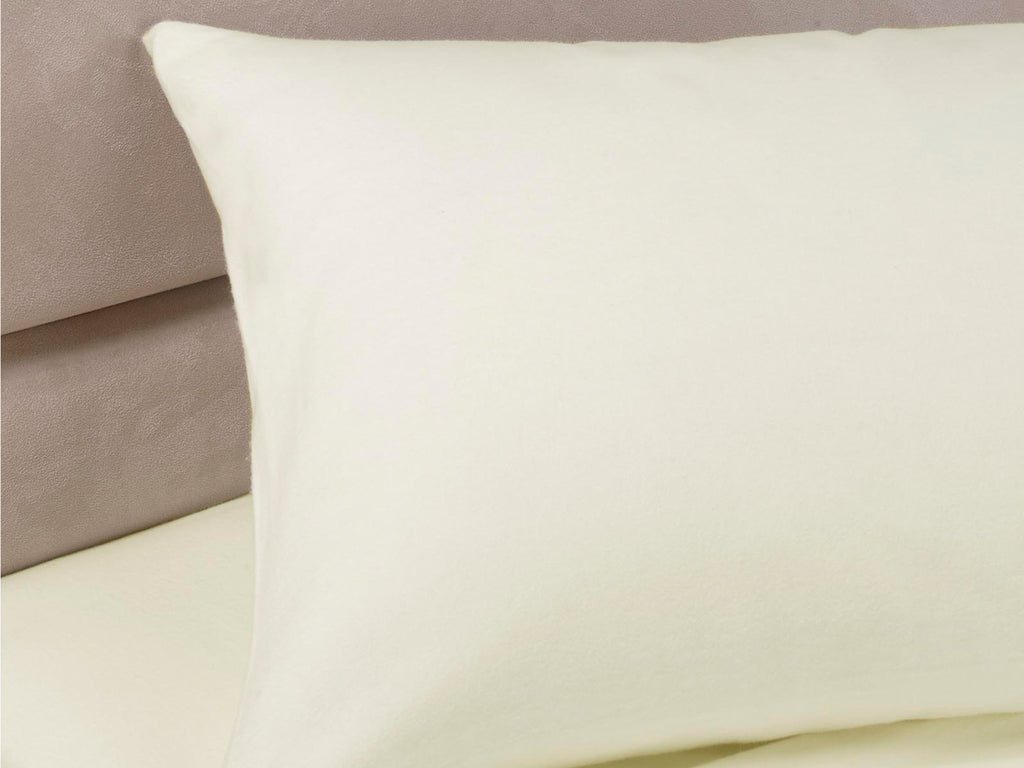 Percale Luxury Pillow Cases Ivory