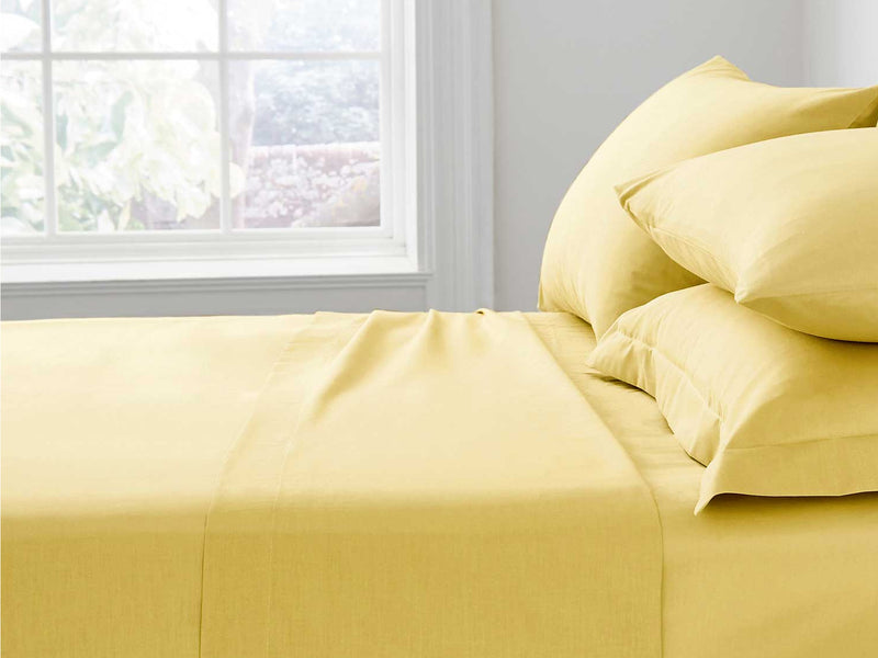 Percale Luxury Pillow Cases Ochre