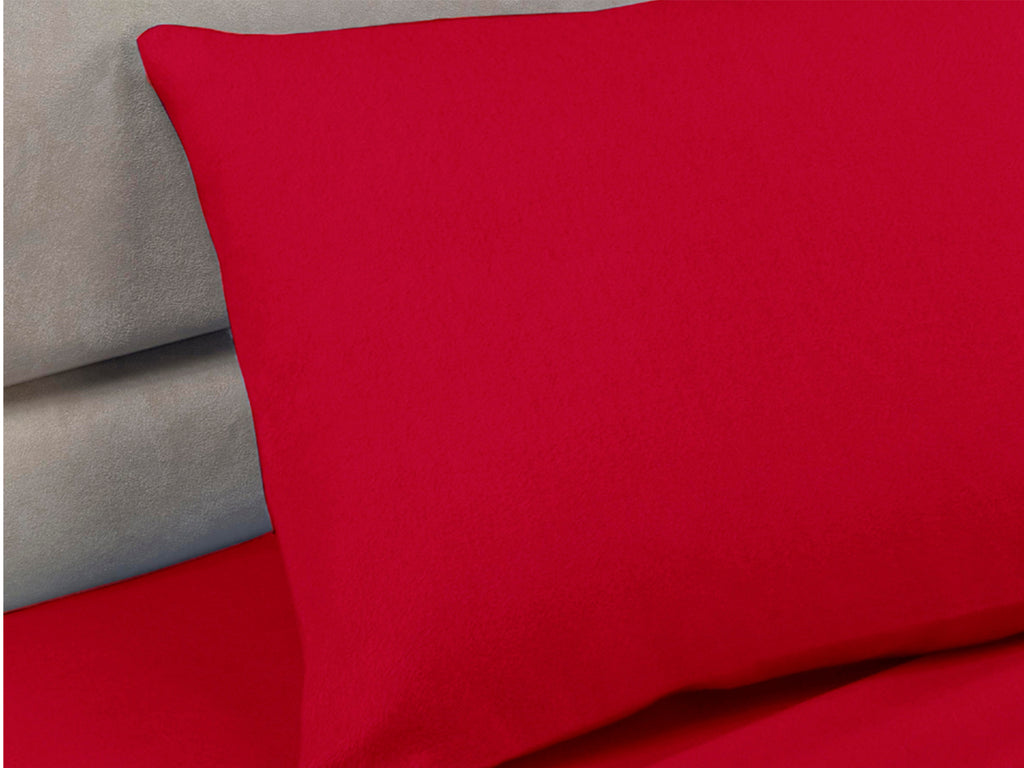 Percale Luxury Pillow Cases Red