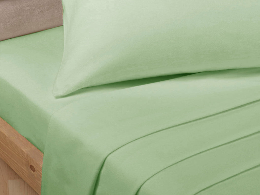 Percale Luxury Fitted Sheet Soft Green