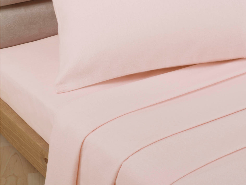 Percale Luxury Flat Sheet Soft Pink