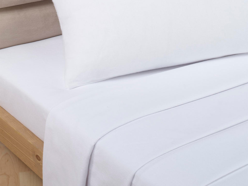 Percale Luxury Fitted Sheet White