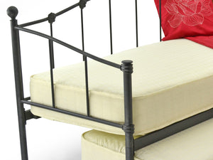 Peru Metal Day Bed and Guest Under Bed In Black
