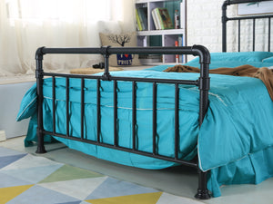 Pipe Industrial Bed Frame in Black