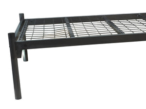 Platinum Mesh Metal Bed Frame in Black