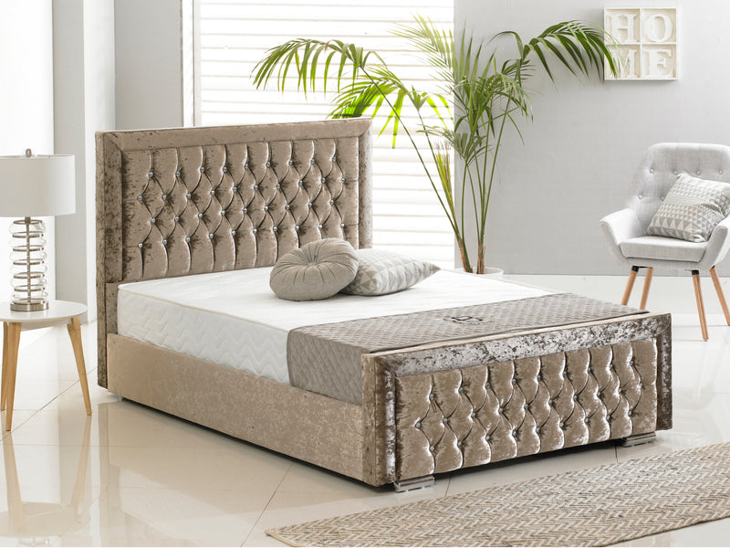 Sandringham Luxury Bed Frame in Crushed Mink