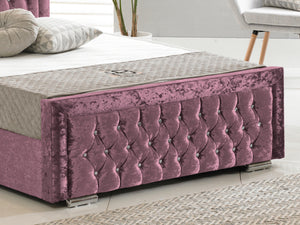 Sandringham Luxury Bed Frame in Crushed Velvet Purple