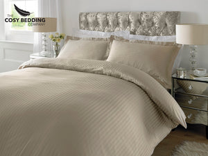 Sateen Stripe Luxury Bedding Set Humas
