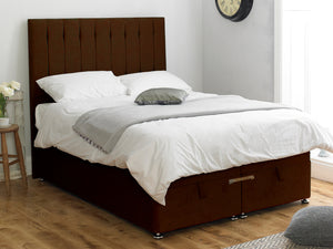Shelly FS Ottoman Twix Opening Bed Base in Hercules Brown