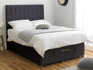 Shelly FS Ottoman Twix Opening Bed Base in Hercules Charcoal