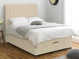 Shelly FS Ottoman Twix Opening Bed Base in Hercules Cream