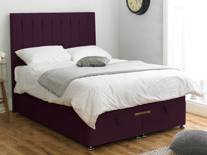 Shelly FS Ottoman Twix Opening Bed Base in Hercules Purple