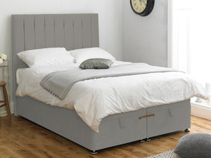 Shelly FS Ottoman Twix Opening Bed Base in Hercules Silver