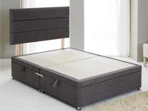 Vencil ST Ottoman Side Opening Bed Base in Chenille Charcoal