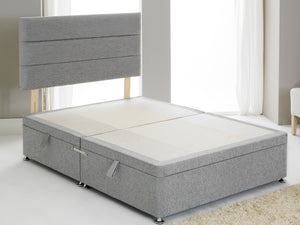 Vencil ST Ottoman Side Opening Bed Base in Chenille Grey
