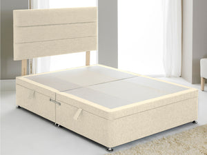 Vencil ST Ottoman Side Opening Bed Base in Chenille Ivory