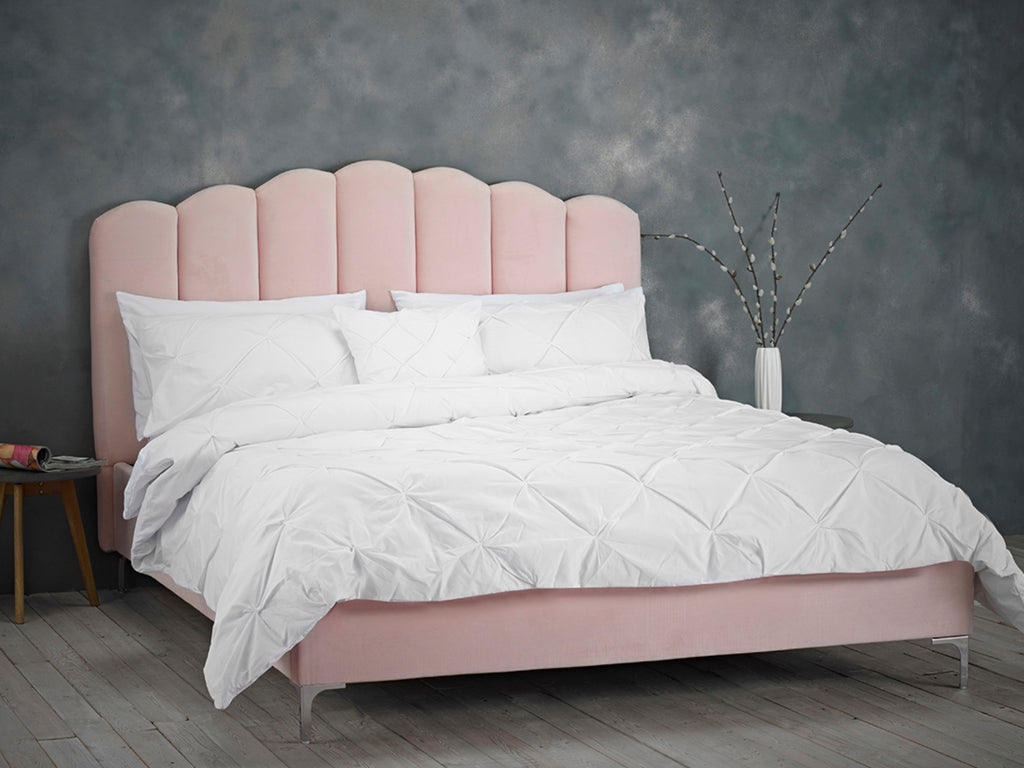 Willow Bed Frame in Shell Pink