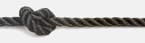 Kingfisher 6mm 3-strand Polyester Black rope per metre