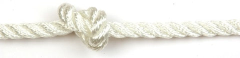 Kingfisher 8mm 3-strand Polyester White rope per metre