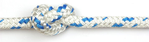 Kingfisher 14mm Cruising Polyester White with Blue fleck rope per metre