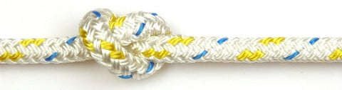 Kingfisher 8mm Cruising Polyester White with Yellow fleck rope per metre