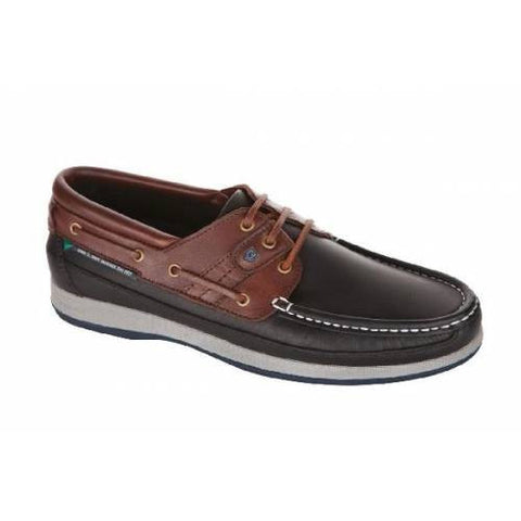 Dubarry Atlantic Navy/Mahogany Leather Sailing Shoes in a range of sizes - Viking Marine