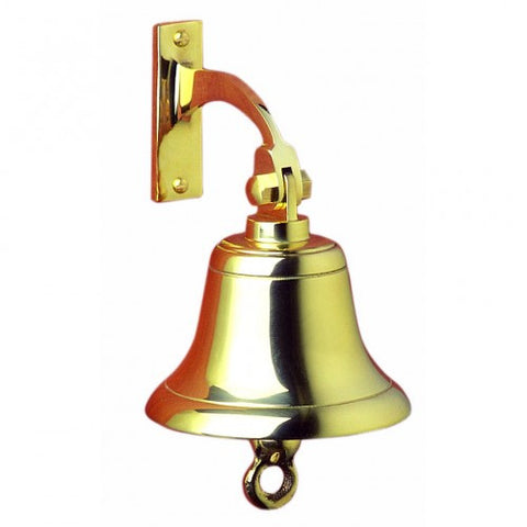 "Brass Ship's Bell 6"" - Viking Marine"