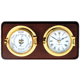 Brass Channel Clock & Barometer - Viking Marine