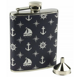 Nauticalia Patterened Hip Flask - Viking Marine