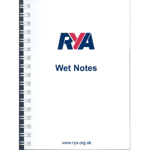 RYA Wet Notes Waterproof spiral bound notebook - Viking Marine