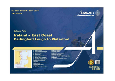 Admiralty Folio SC5621 Ireland - East Coast Carlingford Lough to Waterford - Viking Marine