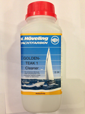 Hoveling Golden Teak 1 - Cleaner 1 Liter (Ireland Only) - Viking Marine