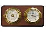 Brass Channel Tide Clock & Barometer - Viking Marine