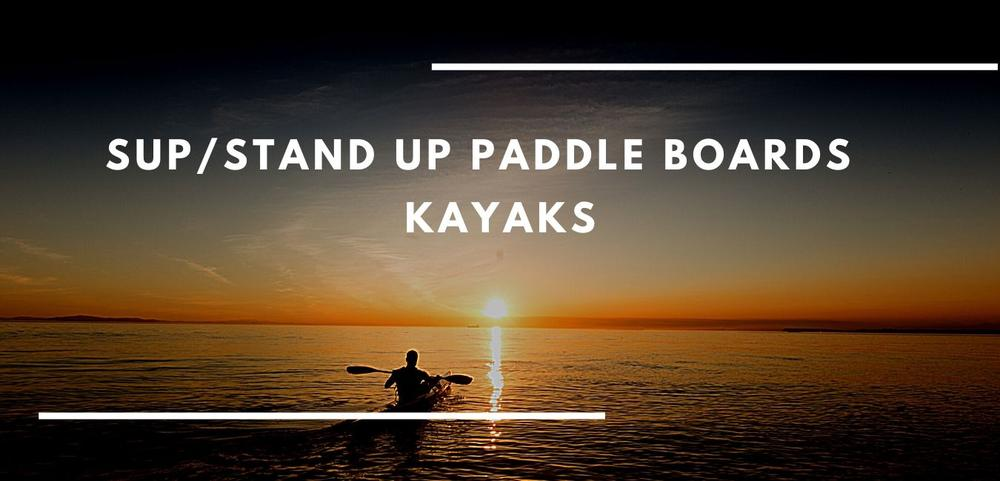 Paddleboards, kayaks and accessories