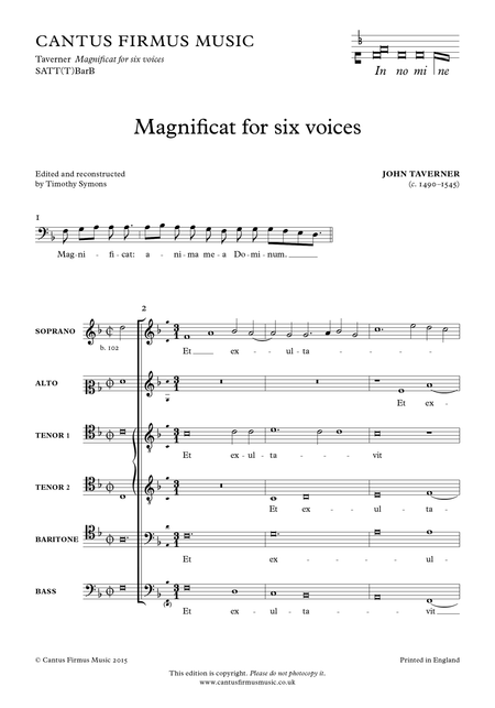 Magnificat for six voices
