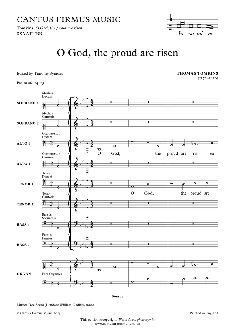 O God, the proud are risen