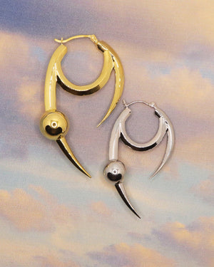 Baby Claw Earring - Silver