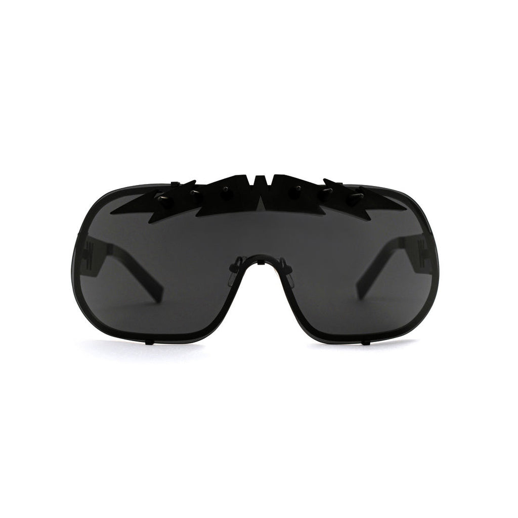 Blitz Solar Shield Sunglasses - Black on Black