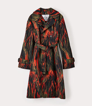 Ben Trench Coat - Flame Print