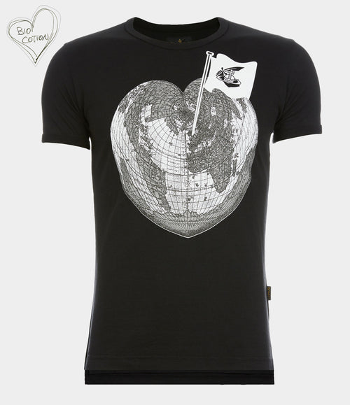 Heart World T-Shirt - Black