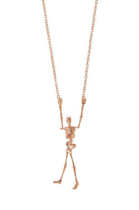Skeleton Necklace - Pink Gold