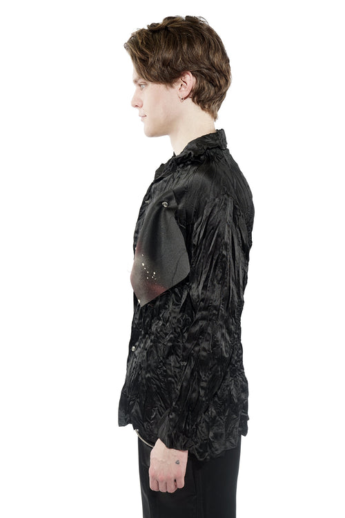 Pleated Shirt - Black - 60% Off!