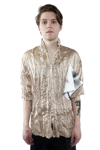 Pleated Shirt - Champagne