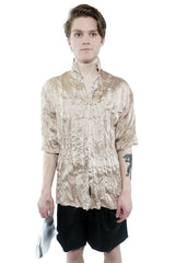 Pleated Shirt - Champagne - 60% Off!