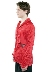 Pleated Shirt - Red